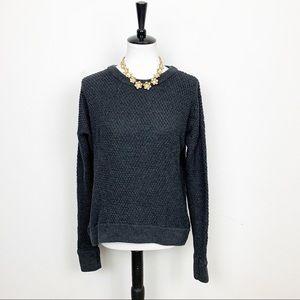 Lululemon Gray Stretchy Knit Sweater Size 8